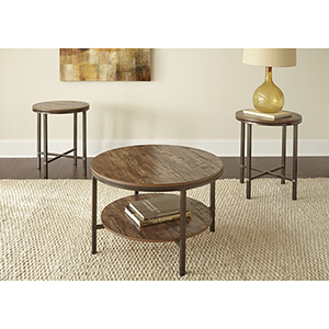 Sedona Brown Three Piece Occasional Table Set