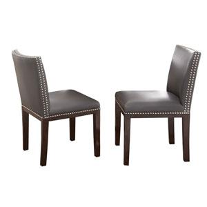 Tiffany Gray with Dark Espresso Cherry Side Chair