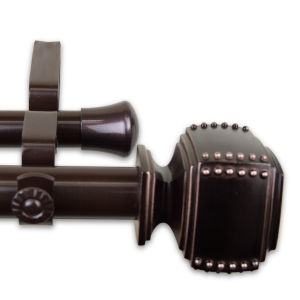 Bennett Bronze 48-84 Inches Double Curtain Rod
