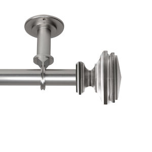 Bedpost Satin Nickel 28-48 Inches Ceiling Curtain Rod