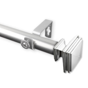 Bedpost Satin Nickel 48-84 Inches Curtain Rod