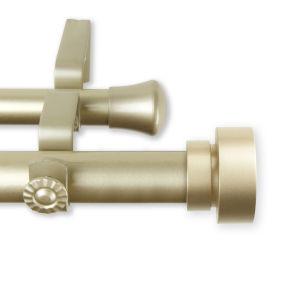 Bonnet Light Gold 240-Inch Double Curtain Rod