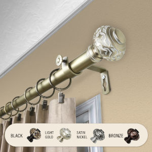 Maple Light Gold 66-120 Inches Curtain Rod