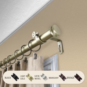 Bun Light Gold 160-240 Inches Curtain Rod