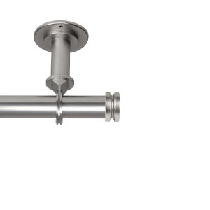 Bun Satin Nickel 160-240 Inches Ceiling Curtain Rod