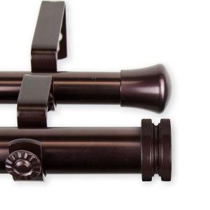 Bun Bronze 48-84 Inches Double Curtain Rod
