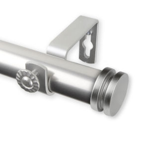 Bun Satin Nickel 66-120 Inches Curtain Rod