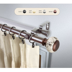 Kelly Bronze 28-48 Inch Double Curtain Rod