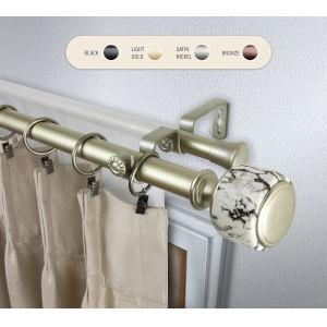 Josephine Gold 28-48 Inch Double Curtain Rod