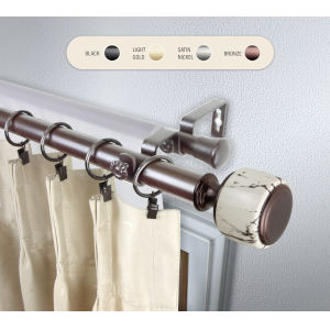 Josephine Bronze 120-170 Inch Double Curtain Rod