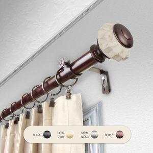 Linden Bronze 28-48 Inch Curtain Rod