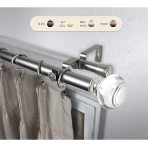 Ironwood Satin Nickel 160-240 Inch Double Curtain Rod