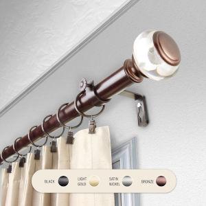 Ironwood Bronze 66-120 Inch Curtain Rod