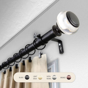 Ironwood Black 120-170 Inch Curtain Rod