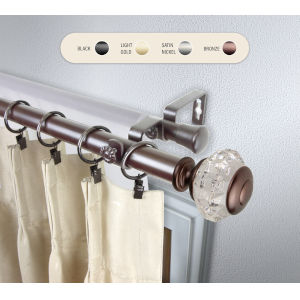 Inez Bronze 160-240 Inch Double Curtain Rod