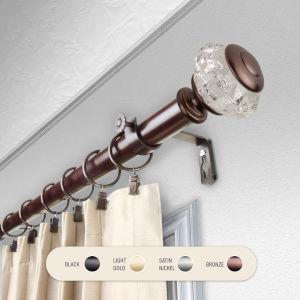Inez Bronze 48-84 Inch Curtain Rod