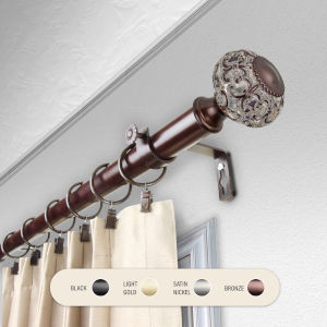 Elsie Bronze 48-84 Inch Curtain Rod
