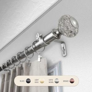 Elsie Satin Nickel 66-120 Inch Curtain Rod
