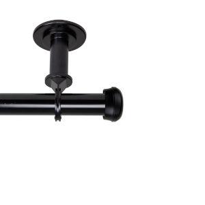 Rosen Black 48-84 Inches Ceiling Curtain Rod