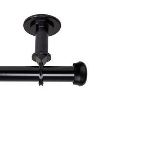 Rosen Black 66-120 Inches Ceiling Curtain Rod