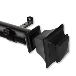 Bach Black 66-115 Inches Curtain Rod