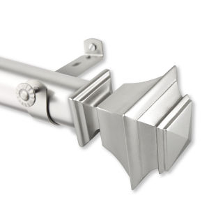 Bach Satin Nickel 66-115 Inches Curtain Rod