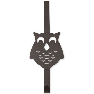 Bronze Four-Inch Over the Door Owl Organizer Single Hook