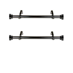 Black Side Curtain Rod, Set of 2