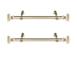 Bedpost Light Gold 20-Inch Side Curtain Rod, Set of 2