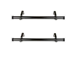 Bun Black 20-Inch Side Curtain Rod, Set of 2