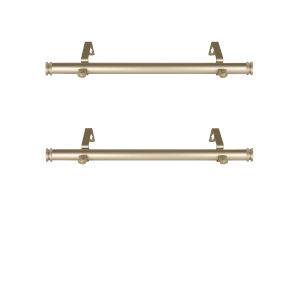 Bun Light Gold 20-Inch Side Curtain Rod, Set of 2