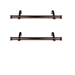 Bun Bronze 20-Inch Side Curtain Rod, Set of 2
