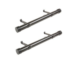 Black 20-Inch Side Curtain Rod, Set of 2
