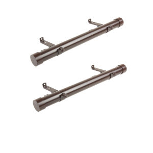 Cocoa 20-Inch Side Curtain Rod, Set of 2