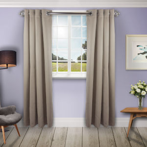 Beige 180 W x 108 H In. Blackout Curtain