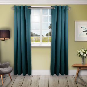 Turquoise 180 W x 96 H In. Blackout Curtain