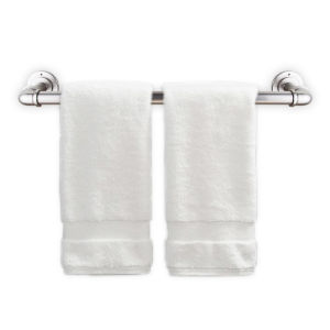 Satin Nickel 24 Inches Pipe Design Towel Rack
