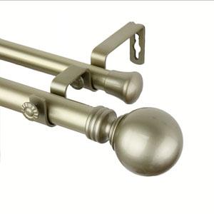 Globe Light Gold 160-240 Inch Double Curtain Rod
