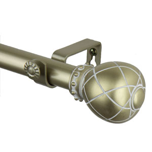 Flourish Light Gold 120 to 170 Inch Supreme Curtain Rod
