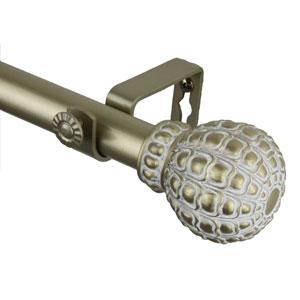 Flourish Light Gold 48 to 84 Inch Pod Curtain Rod