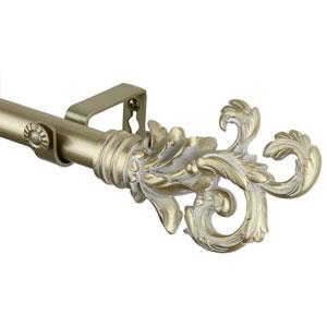 Flourish Light Gold 28 to 48 Inch Plume Curtain Rod