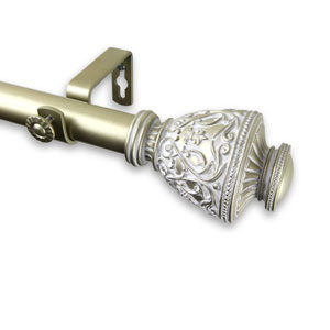 Veda Light Gold 28 to 48-Inch Curtain Rod