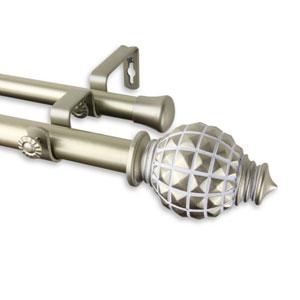 Opal Light Gold 160-240 Inch Double Curtain Rod