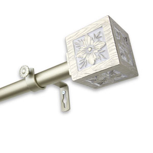 Ophelia Light Gold 28 to 48-Inch Curtain Rod