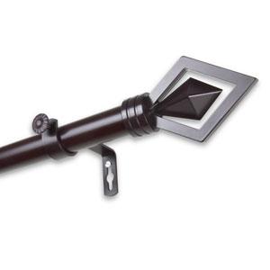 Lenore Mahogany 120 to 170-Inch Curtain Rod