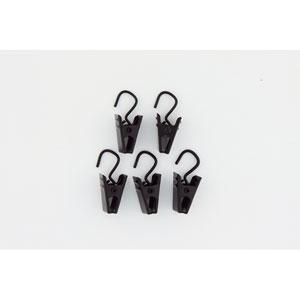 Black Hook Clips, Set of 24