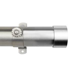 Cap Satin Nickel 165-215 In. Curtain Rod Set