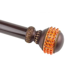 Elite Mahogany 28 to 48 Inch Gemstone Curtain Rod