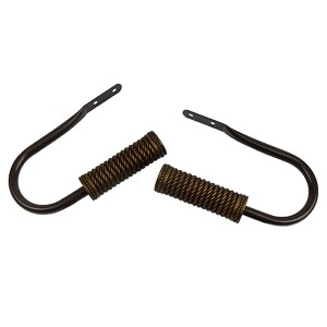 Threaded Cocoa Holdbacks, Set of Two