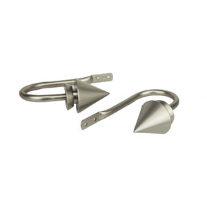 Cone Satin Nickel Decorative Holdback, Set of 2